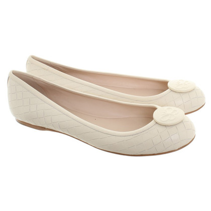 Bottega Veneta Ballerinas in cream white