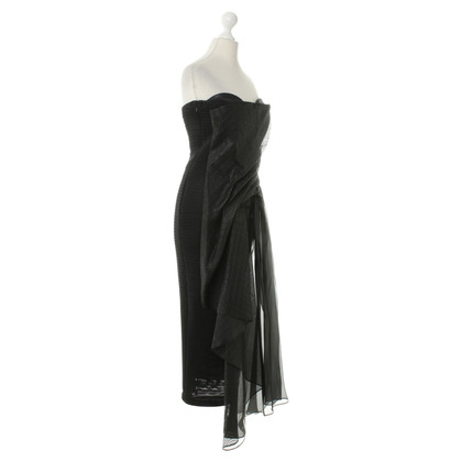 Anne Valerie Hash Bustier dress in black