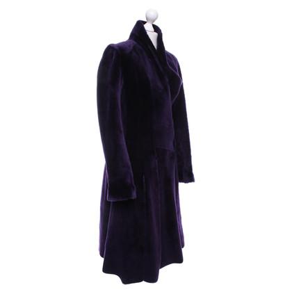 Bottega Veneta Manteau en peau de mouton en violet
