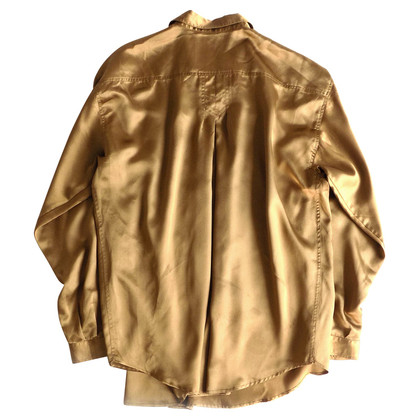 Alberta Ferretti Oversized Shirt in gold
