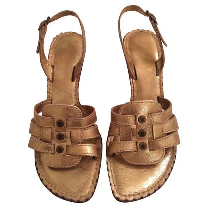 Céline sandali di cuoio