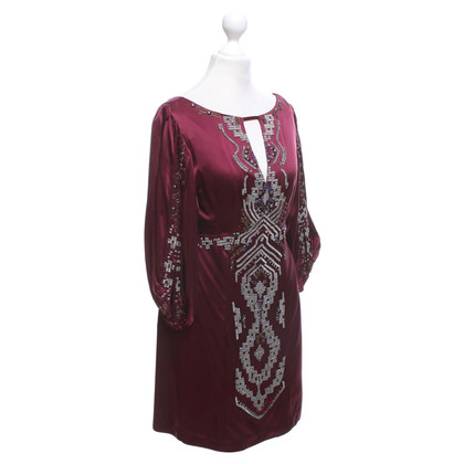 Nanette Lepore Silk dress in Bordeaux