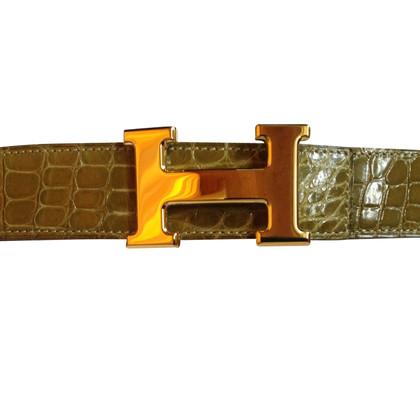 Hermès riem krokodillenleer