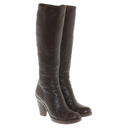 Costume National Leather boots in brown