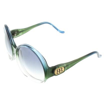 Balenciaga Sonnenbrille in Blau/Grün