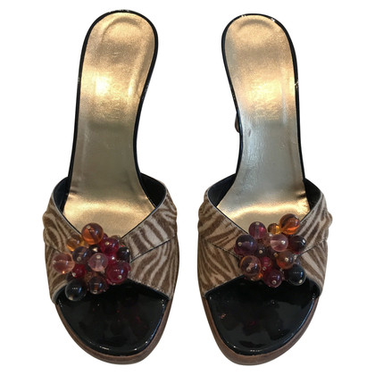 Gianni Versace Sandals with tiger print