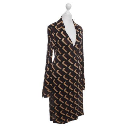 Diane von Furstenberg Vintage Wickelkleid mit Muster