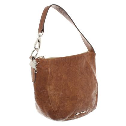 Miu Miu Small leather purse in brown