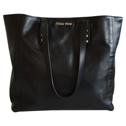 Miu Miu Shopper with studs