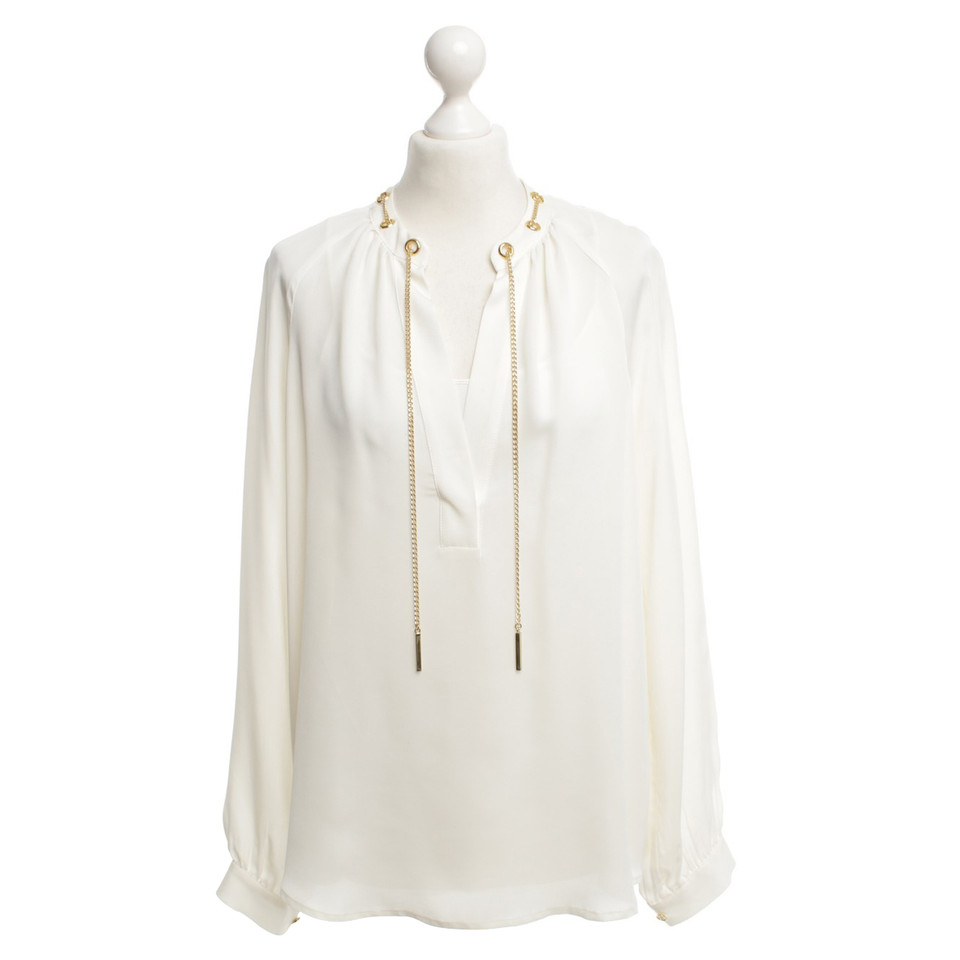 michael kors bluse in creme second hand michael kors bluse in creme gebraucht kaufen f r 120. Black Bedroom Furniture Sets. Home Design Ideas