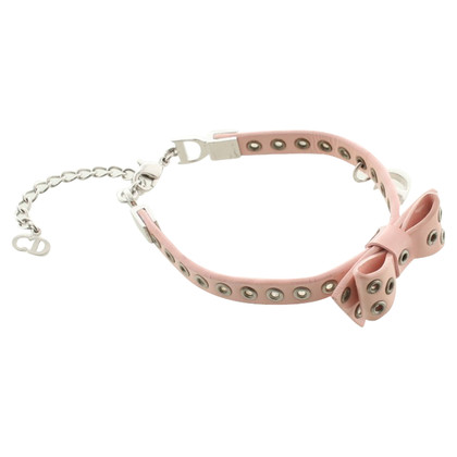 Christian Dior Armband aus Lackleder in Rosa