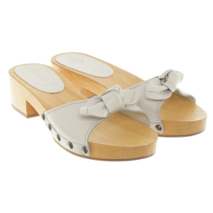 Miu Miu Clogs with wooden platform
