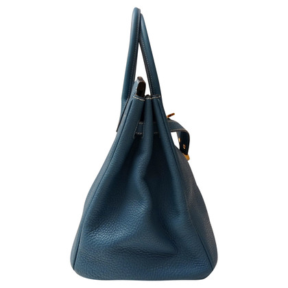"Hermès ""Birkin Bag 35 Togo Leather Blue Jean"""