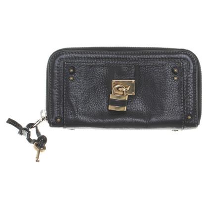 Chloé Portemonnaie aus schwarzem Leder