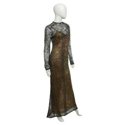 Mugler Dress with glittering surface