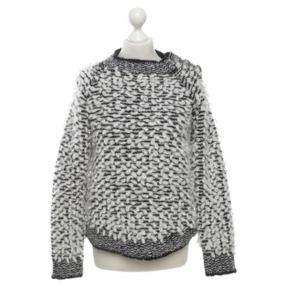 Balmain Knitted sweater in black / white