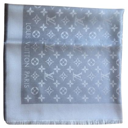 Louis Vuitton Monogram Glansdoek in zilver / grijs