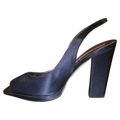 Pura Lopez Slingback peep-dita dei piedi