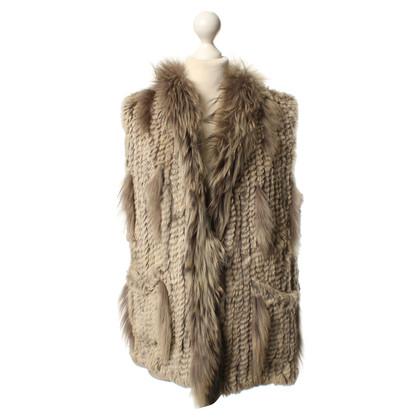 Oakwood Grey fur vest