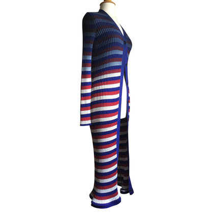 Maison Martin Margiela Knitted coat with striped pattern