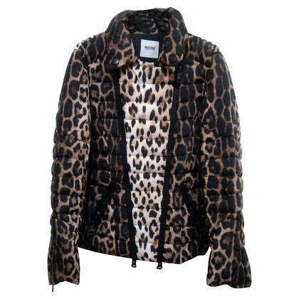 Moschino Cheap and Chic Steppjacke mit Leoparden-Muster
