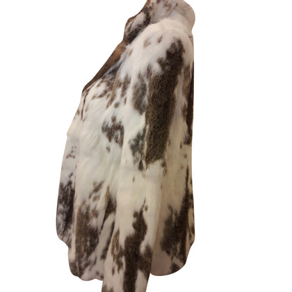 Antik Batik Jacket made of rabbit fur