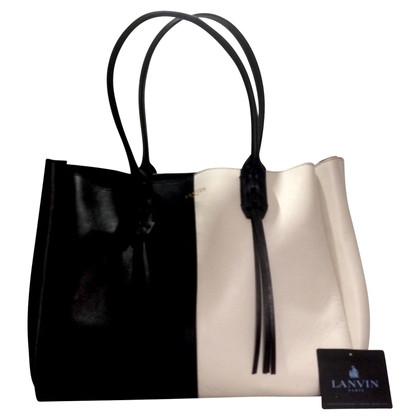 Lanvin Handtas in zwart / wit