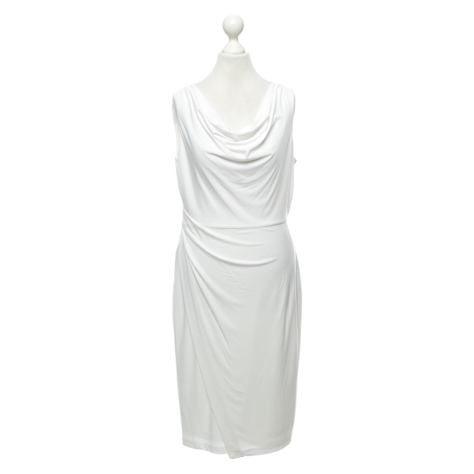 dkny kleid aus jersey in weiß - second hand dkny kleid aus