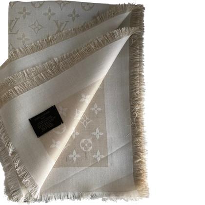 Louis Vuitton Panno Monogram Shine in bianco / oro