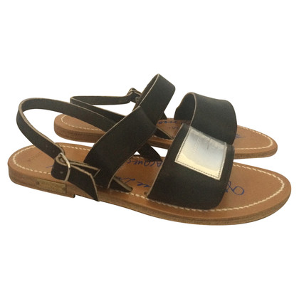 K Jacques Leather Sandals