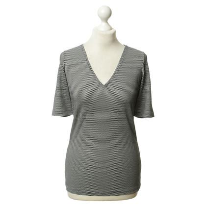 Talbot Runhof Fine knit shirt in black and white