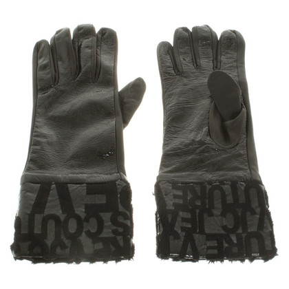 Versace Gloves made of patent leather