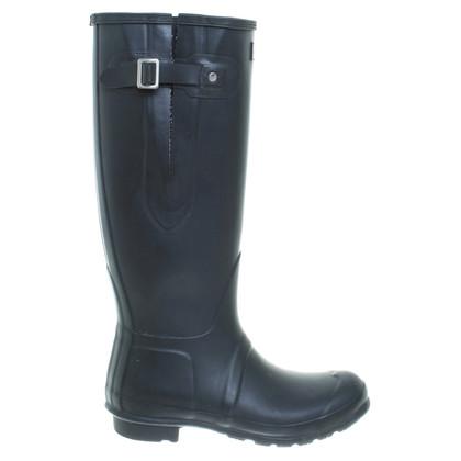 Hunter Zwarte rubberen laarzen