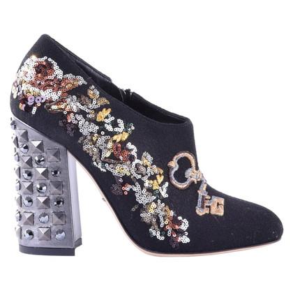 Dolce & Gabbana Stivali con paillettes ricami