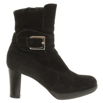 Unützer Suede Ankle Boots in black