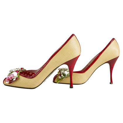Dolce & Gabbana Peeptoes mit Schlangenleder