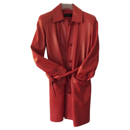 Donna Karan Ledermantel in Rot