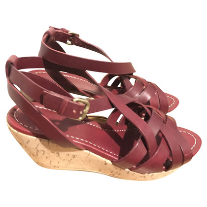 Navyboot Wedges in Bordeaux