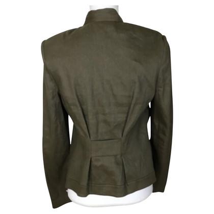 Diane von Furstenberg Olivfarbene Jacke mit Leinenanteil