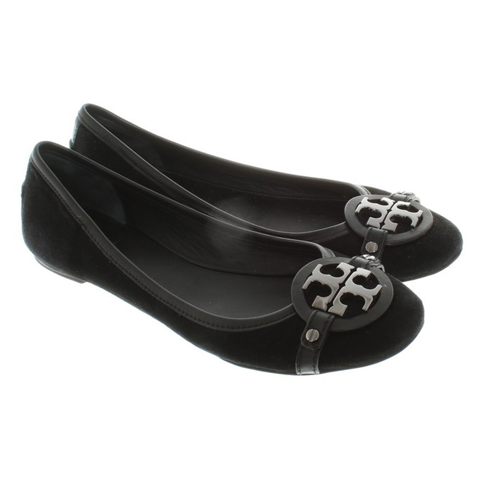 tory burch ballerinas leather in black buy second hand tory burch ballerinas leather in black. Black Bedroom Furniture Sets. Home Design Ideas