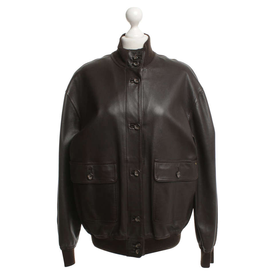Aigner Leather jacket in brown