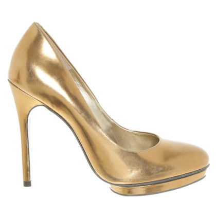 French Connection Gold colored pumps