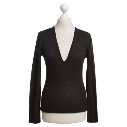 Yves Saint Laurent Linen sweater in black