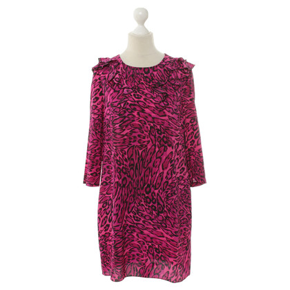 Juicy Couture Abito in seta stampa animalier