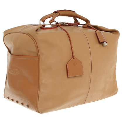 Tod's Leather travel bag in beige