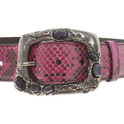 Prada Belt in reptile look