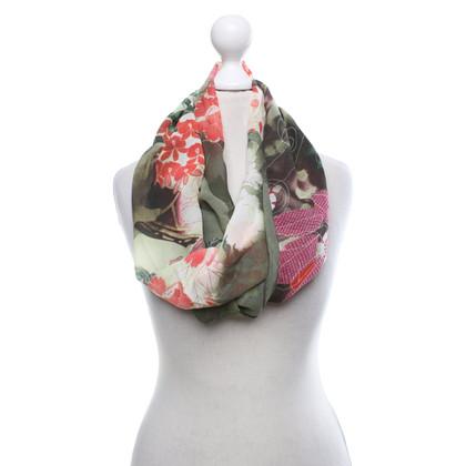 John Galliano Silk scarf with print