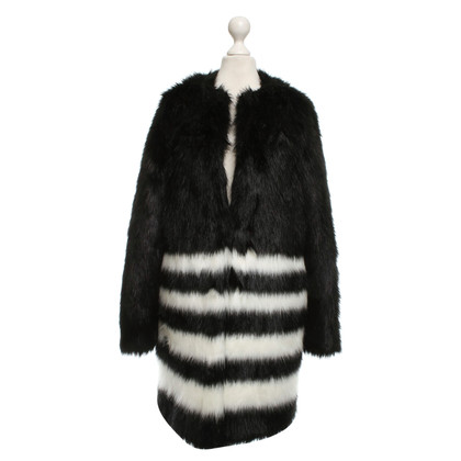 Michael Kors Woven fur jacket in bicolor