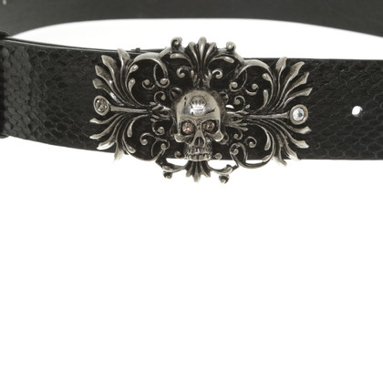 Philipp Plein Belt made of reptile leather