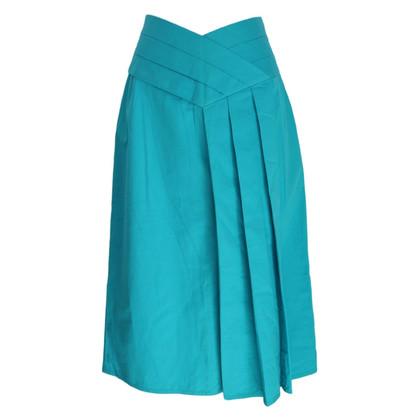 Alberta Ferretti Alberta Ferretti cotton blue skirt